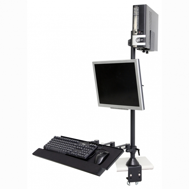 LCD Monitor keyboard arm for desktop mounting