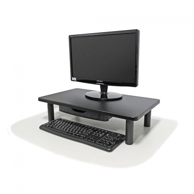 Monitor Riser Desk Stand with Drawer